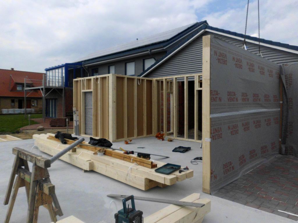 werkstatthalle mit pultdach in rantrum halle pultdach holzrahmenbau. Black Bedroom Furniture Sets. Home Design Ideas